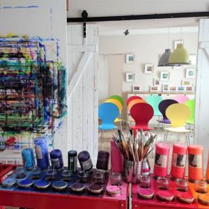 Kreative Malkurse in der Künstlerei Pöppinghaus Handeloh